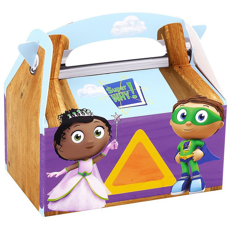 Super Why! Empty Favor Boxes (4: Birthday