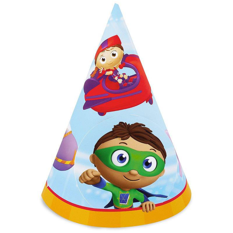 Super Why! Cone Hats (stock-8): Birthday