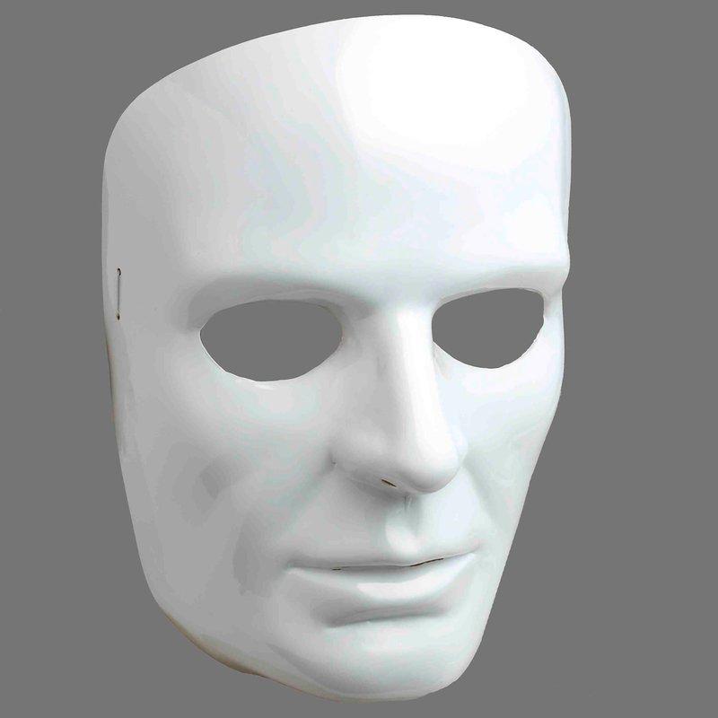 Forum Novelties White Face Adult Mask One Size Halloween