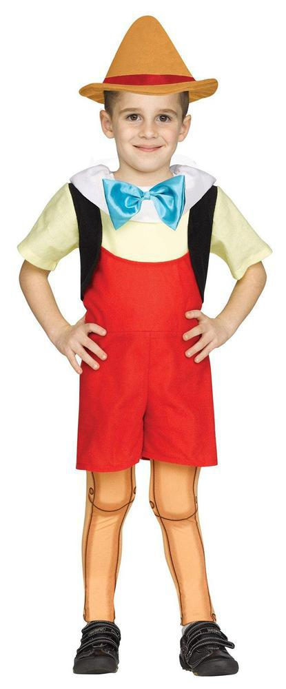 Fun World Wooden Boy Doll Toddler Costume 2T