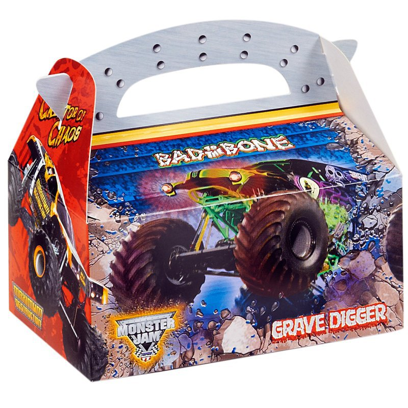 Monster Jam 3D Empty Favor Boxes (8): Birthday