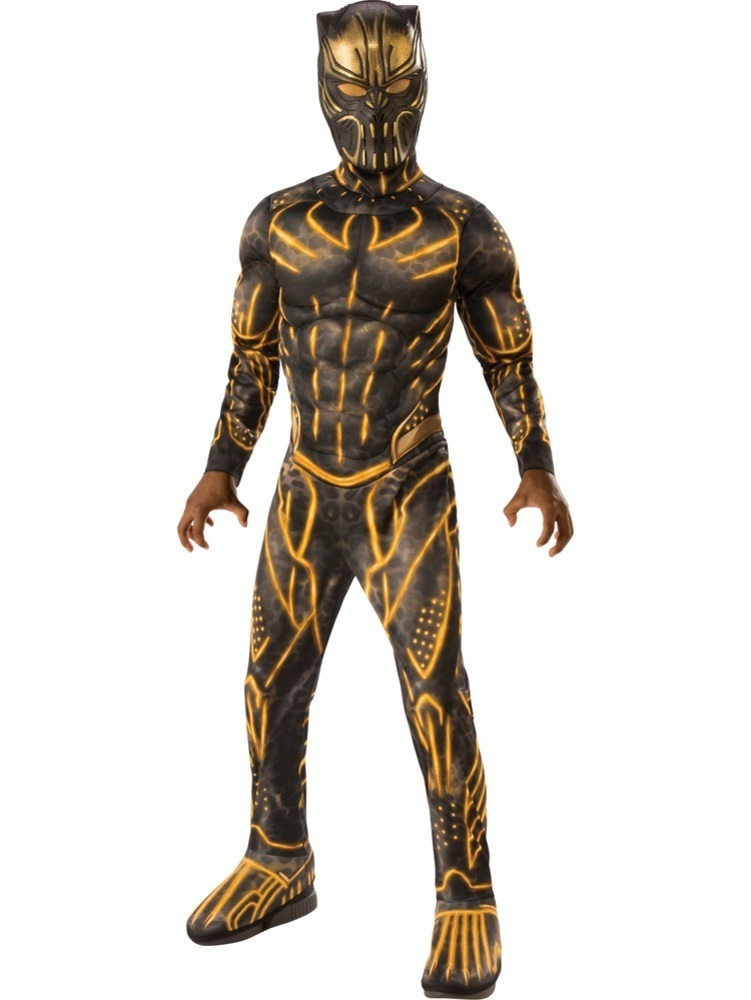 Marvel: Black Panther Movie Deluxe Boys Erik Killmonger Battle Suit Costume - Large
