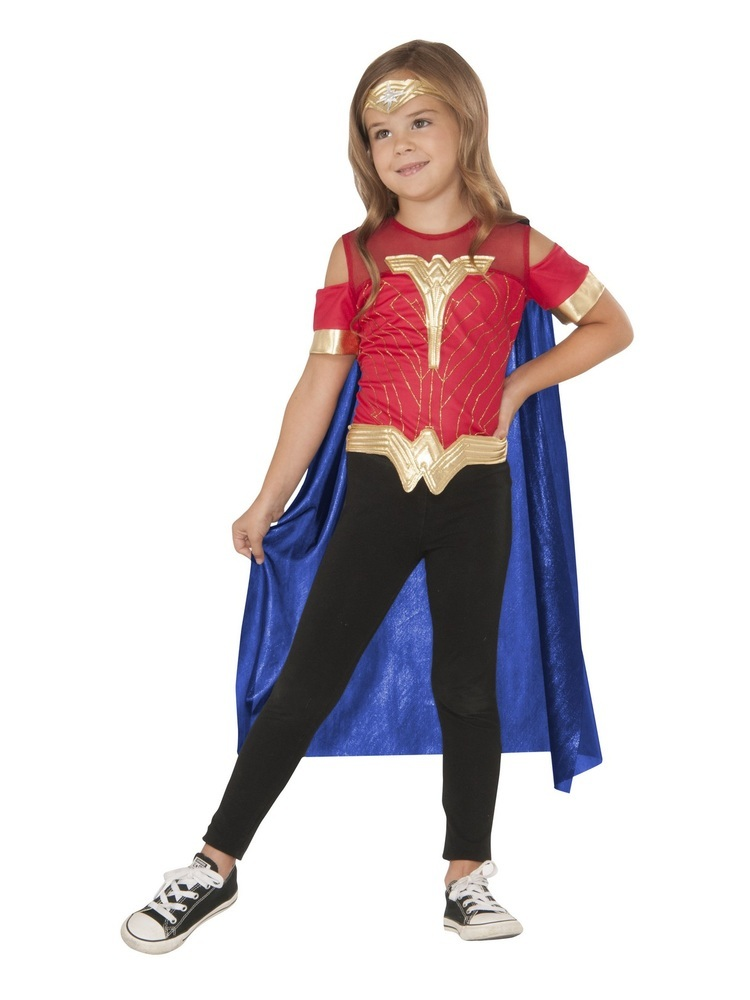 Buyseasons Girls Wonder Woman Child Costume Top - Kids -3516