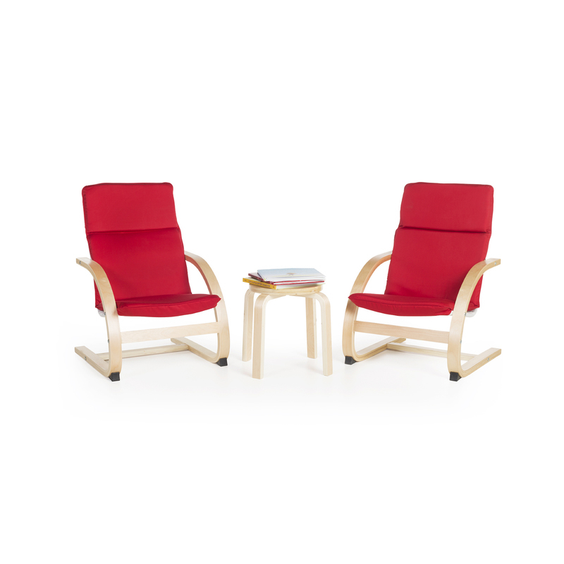 Guidecraft Kiddie Rocker Chairs Set - Red