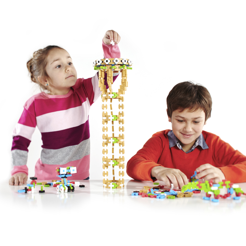 Guidecraft Guidecraft IO Blocks� Minis - 250 Piece Set: 250 pieces; Quarter-size mini version of IO Blocks�; Open-ended building toy; 12 unique shapes; Secure, friction-fit interlocking system; Tracker pad and free IO Blocks� App (G9611)