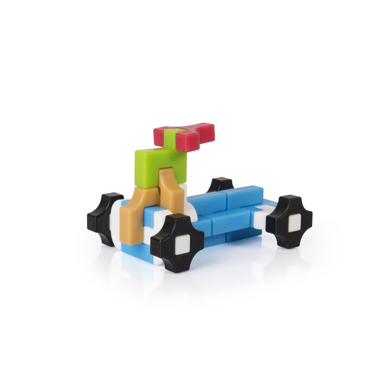 Guidecraft Guidecraft IO Blocks� Minis - 425 Piece Set: 425 pieces; Quarter-size mini version of IO Blocks�; Open-ended building toy; 12 unique shapes; Secure, friction-fit interlocking system; Tracker pad and free IO Blocks� App (G9612)
