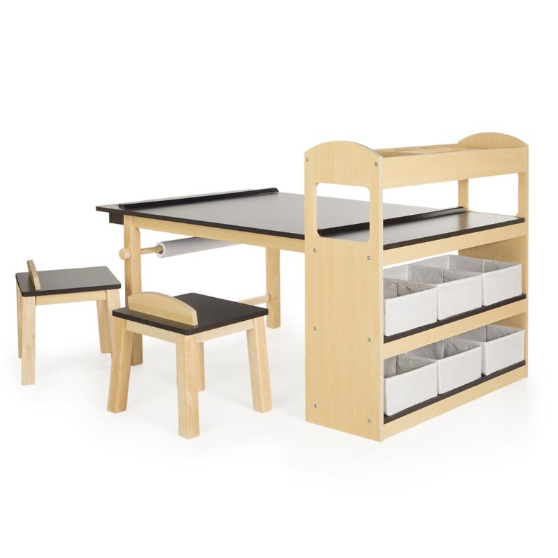 Guidecraft deluxe art center kids 39 desks online kid for Kids craft table canada