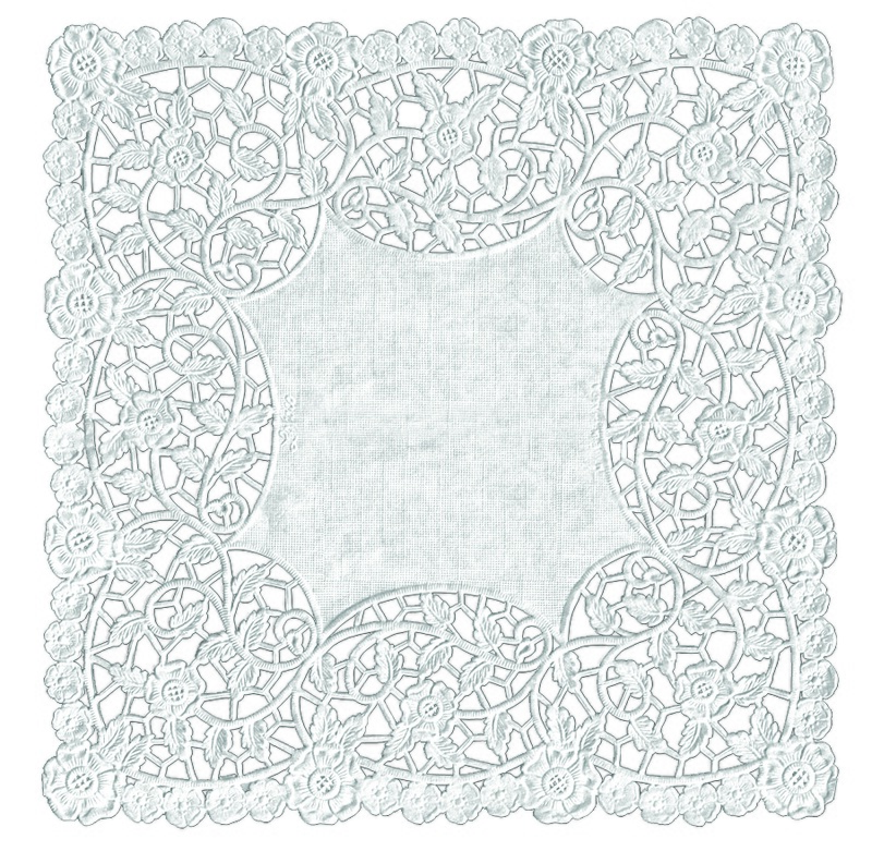 "Hygloss Doilies - Specialty: 36 ct., 8"" White Square"