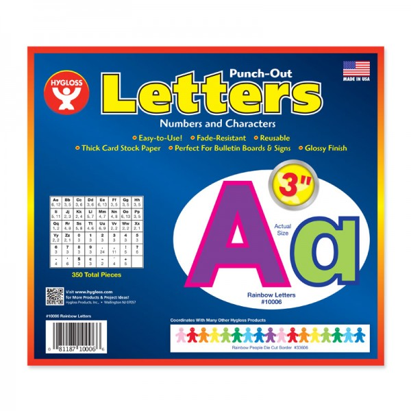 Hygloss Rainbow Bulletin Board Letters