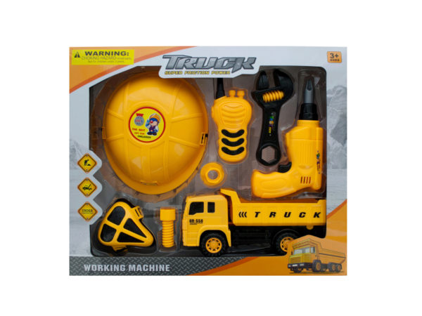 Construction Site Play Set With Friction Truck: assorted styles