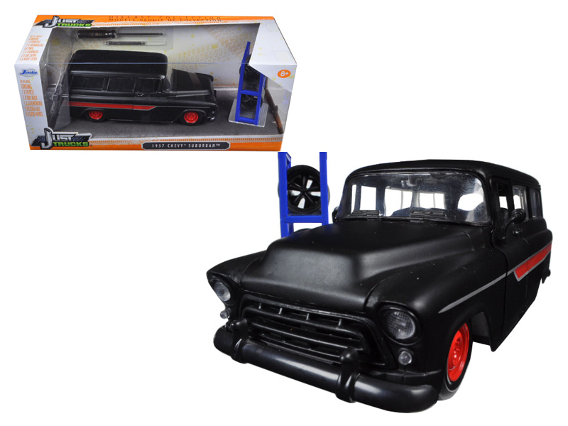 1992 JEEP WRANGLER W//EXTRA WHEELS MATT BLACK 1//24 DIECAST MODEL CAR JADA 98020