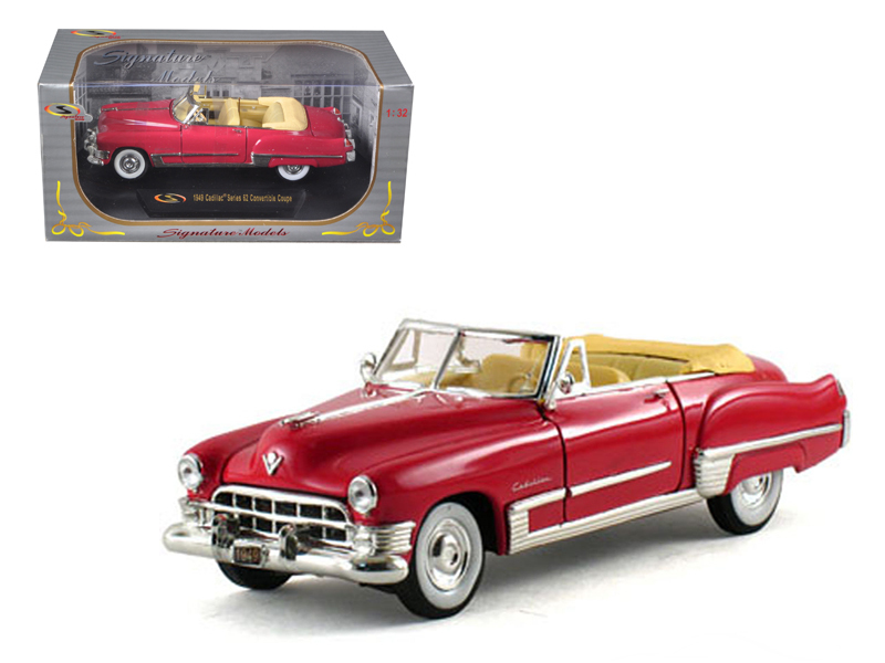1949 Cadillac Series 62 Convertible Coral Red 1/32 Diecast Model Car by Signature Models