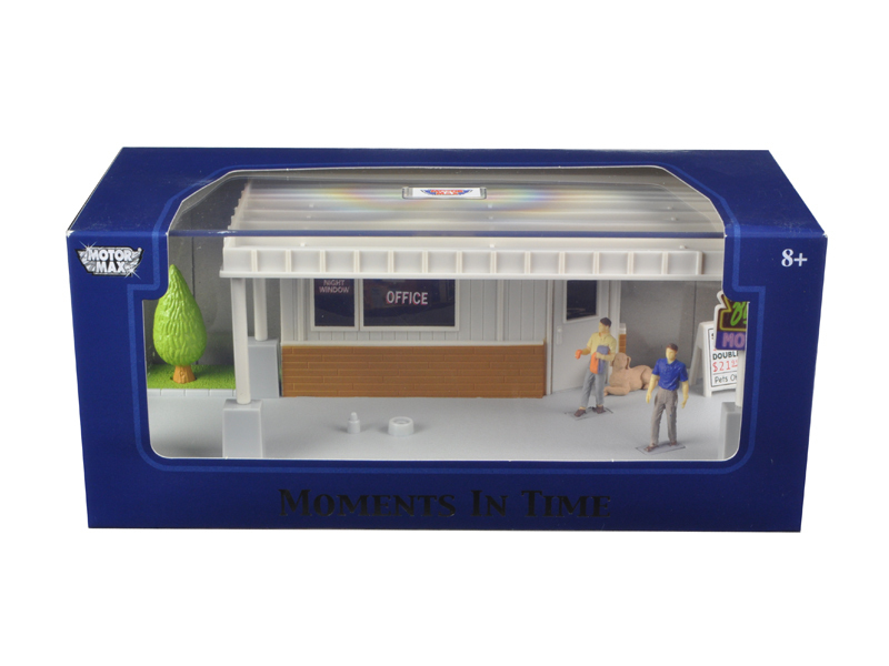 """Big 8 Motel Scene\"" Diorama Put Your Own Car Inside 1/43 by Motormax"