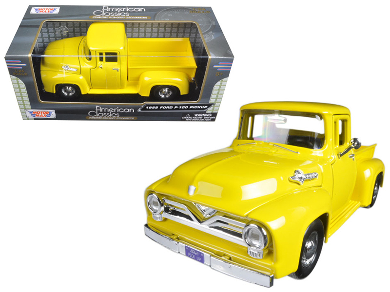 Ford F  Pickup Truck Yellow  Cast Model Car By Motormax