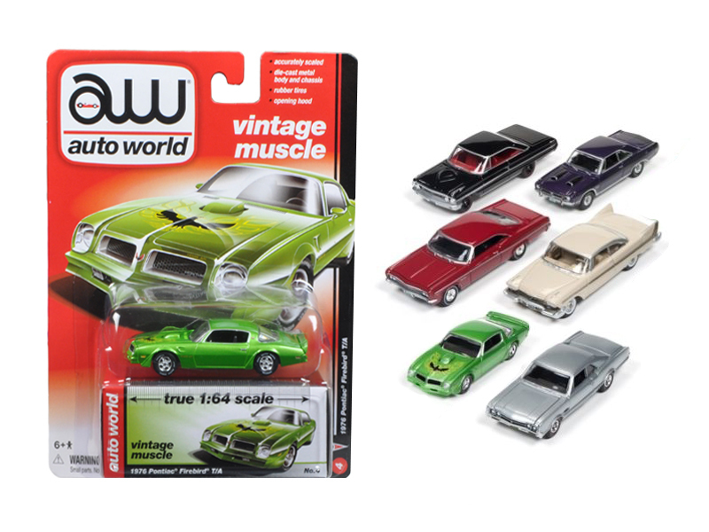 Autoworld Muscle Cars Release 5B Premium Licensed Set Of 6 Cars 1/64 Diecast Model Cars by Autoworld