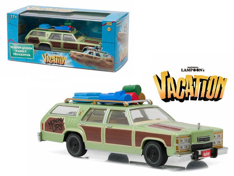 "1979 Family Truckster ""Wagon Queen\"" Honky Lips Version \""National Lampoon\'s Vacation\"" Movie (1983) 1/43 Diecast Model Car by Greenlight"
