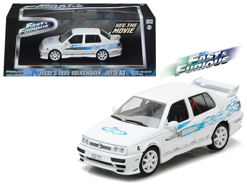 "Jesse\'s 1995 Volkswagen Jetta A3 ""The Fast and The Furious\"" Movie (2001) 1/43 Diecast Model Car by Greenlight"
