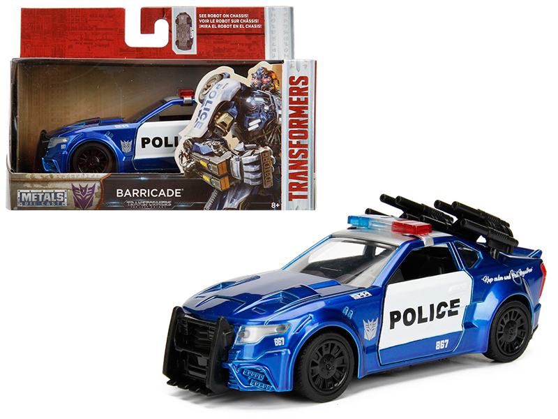 "Barricade Custom Police Car From ""Transformers 5\"" Movie 1/32 Diecast Model Car  by Jada"