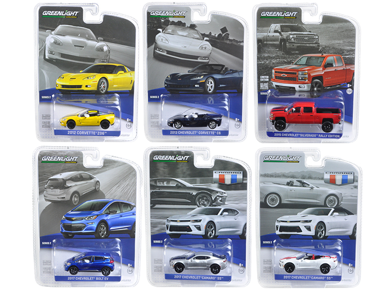 General Motors Collection Series 2, 6pc Set 1/64 Diecast Model Cars  by Greenlight
