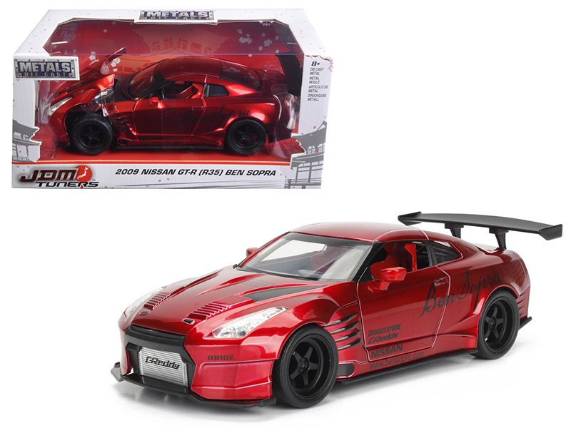 2009 Nissan GT-R (R35) Ben Sopra Red JDM Tuners 1/24 Diecast Model Car  by Jada