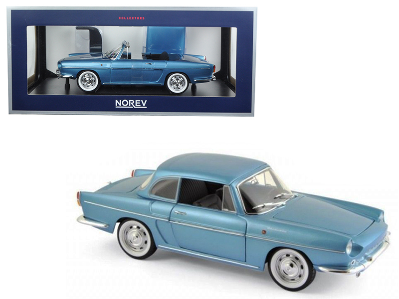 1964 Renault Caravelle Finlande Blue Metallic 1/18 Diecast Model Car by Norev