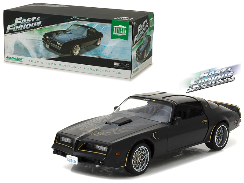 "Tego\'s 1978 Pontiac Firebird Trans Am ""Fast & Furious\"" (2009) Movie Artisan Collection 1/18 Diecast Model Car  by Greenlight"