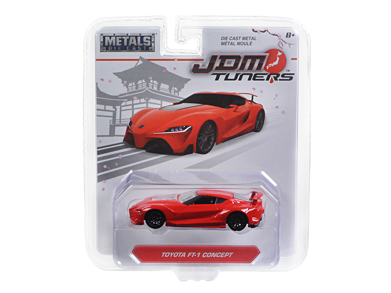 "Toyota FT-1 Concept Red ""JDM Tuners\"" 1/64 Diecast Model Car by Jada"