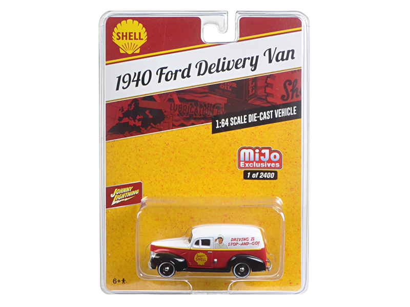 "1940 Ford Delivery Van ""Shell\"" 1/64 Diecast Model Car by Johnny Lightning"