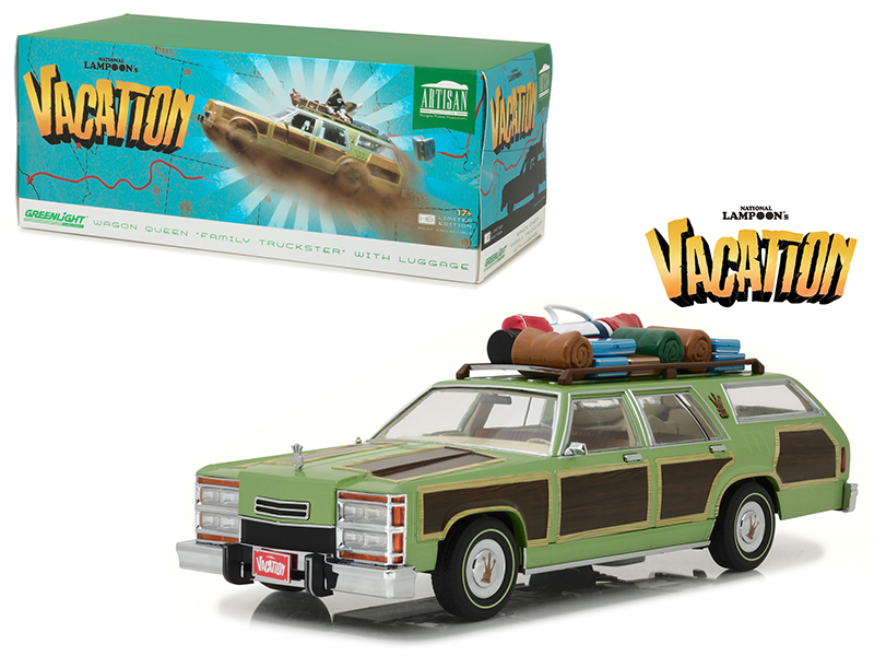 "1979 Family Truckster Wagon Queen ""National Lampoon\'s Vacation\"" (1983) Movie with Rooftop Luggage Artisan Collection 1/18 Diecast Model Car by Greenlight"