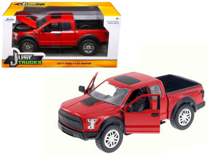 2017 ford f 150 raptor pickup truck red 1 24 diecast model car by jada ford cars online kid. Black Bedroom Furniture Sets. Home Design Ideas