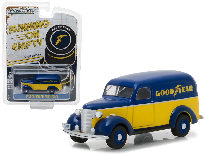 "1939 Chevrolet Panel Truck Goodyear Tires ""Running on Empty"" Series 4 1/64 Diecast Model Car by Greenlight"