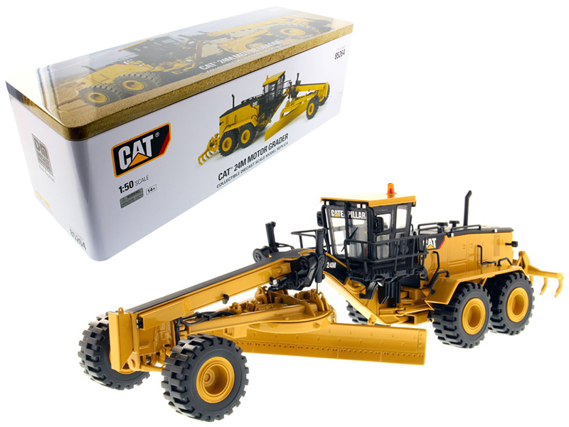CAT Caterpillar 24M Motor Grader with Operator High Line Series 1/50 Diecast Model by Diecast Masters