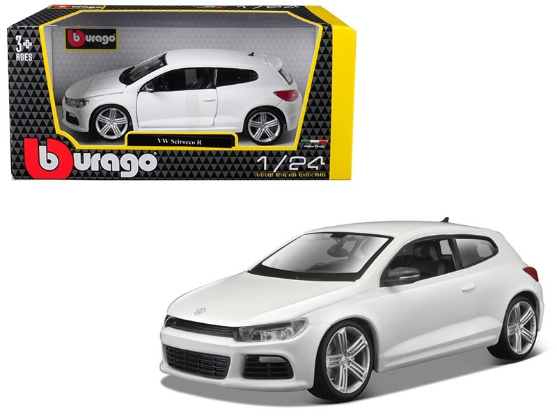 volkswagen scirocco r white 1 24 diecast model car by. Black Bedroom Furniture Sets. Home Design Ideas