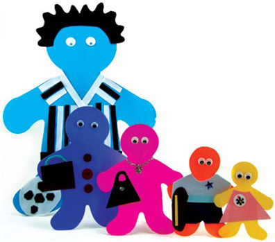 "Hygloss Family Cut-Outs: 6"" Big Kid, Package of 40"