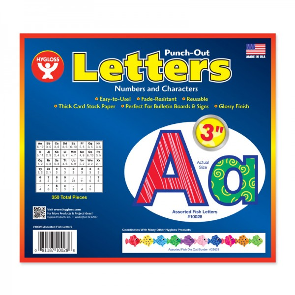 Hygloss Assorted Fish Bulletin Board Letters