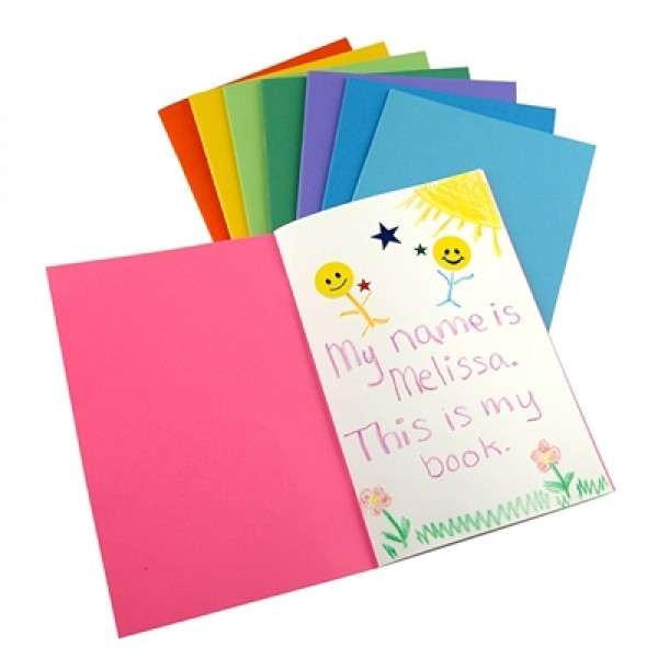 "Hygloss Mini Blank Books: Assorted Colors, 4.25"" x 5.5"", 24 Pages, 10 Books"