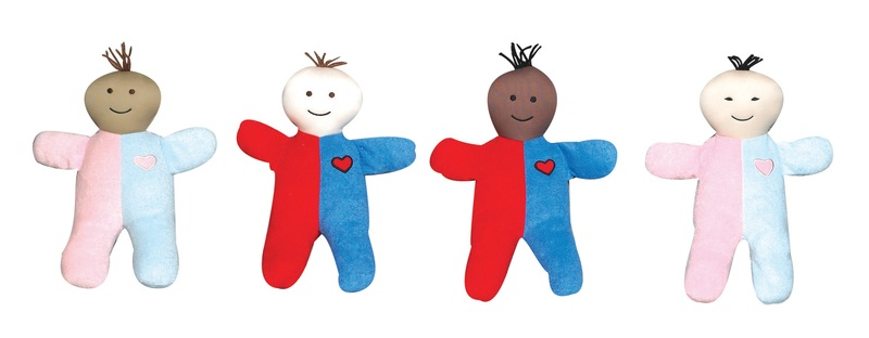 "The Children's Factory Heart of Mine Babies: 11"" Tall, Set of 4"