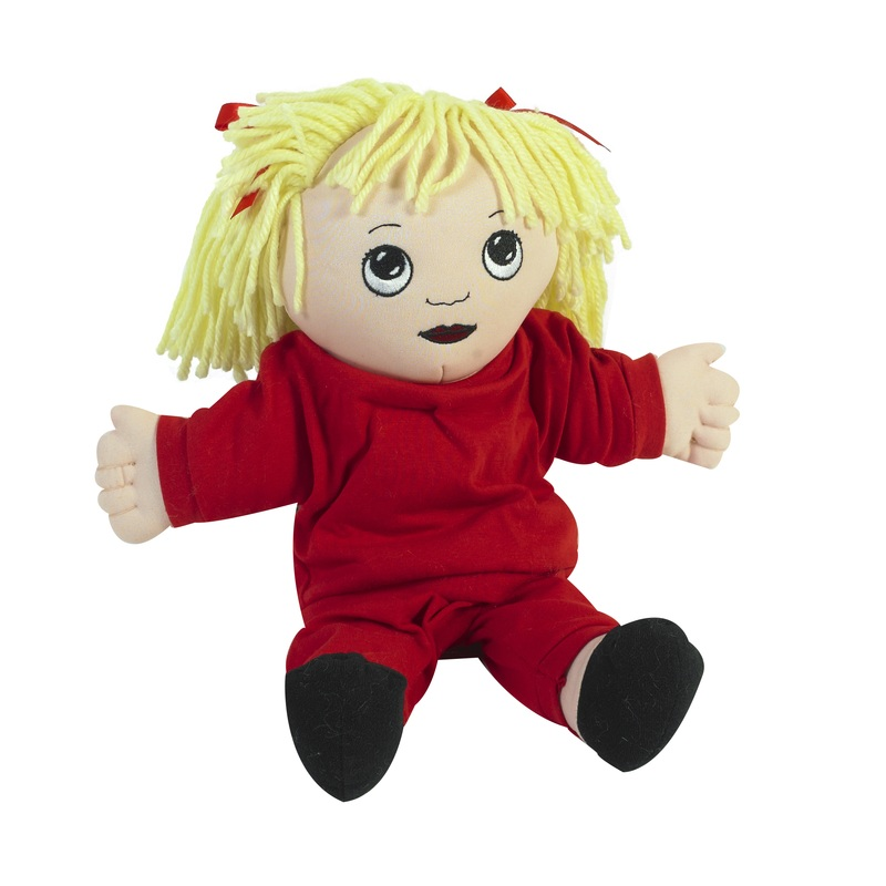 "The Children's Factory White Girl in Sweat Suit: 14"" Tall"