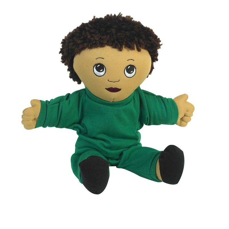 "The Children's Factory Hispanic Boy in Sweat Suit: 14"" Tall"