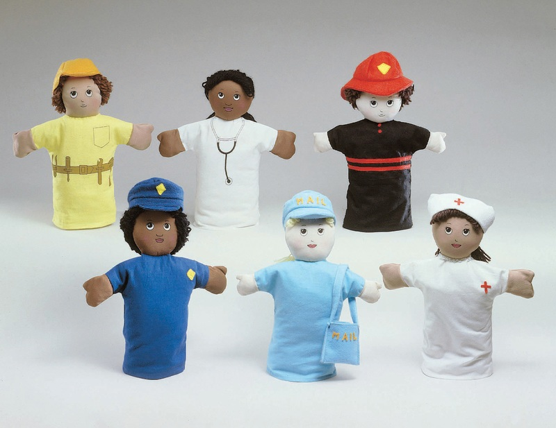 "The Children's Factory Career Puppets: 9"" Tall, Set of 6"