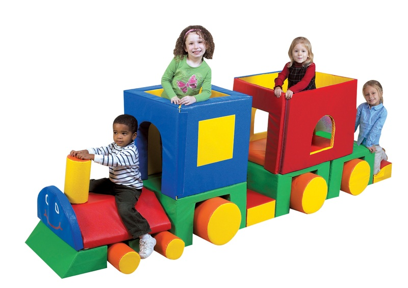 The Children's Factory Little Train with Caboose