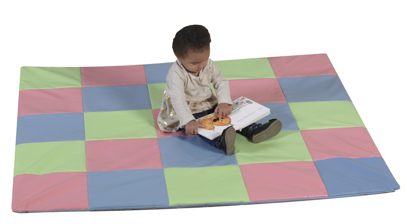The Children's Factory Patchwork Crawly Mat: Pastel