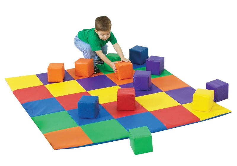 The Children's Factory Joey's Matching Mat and Blocks Set