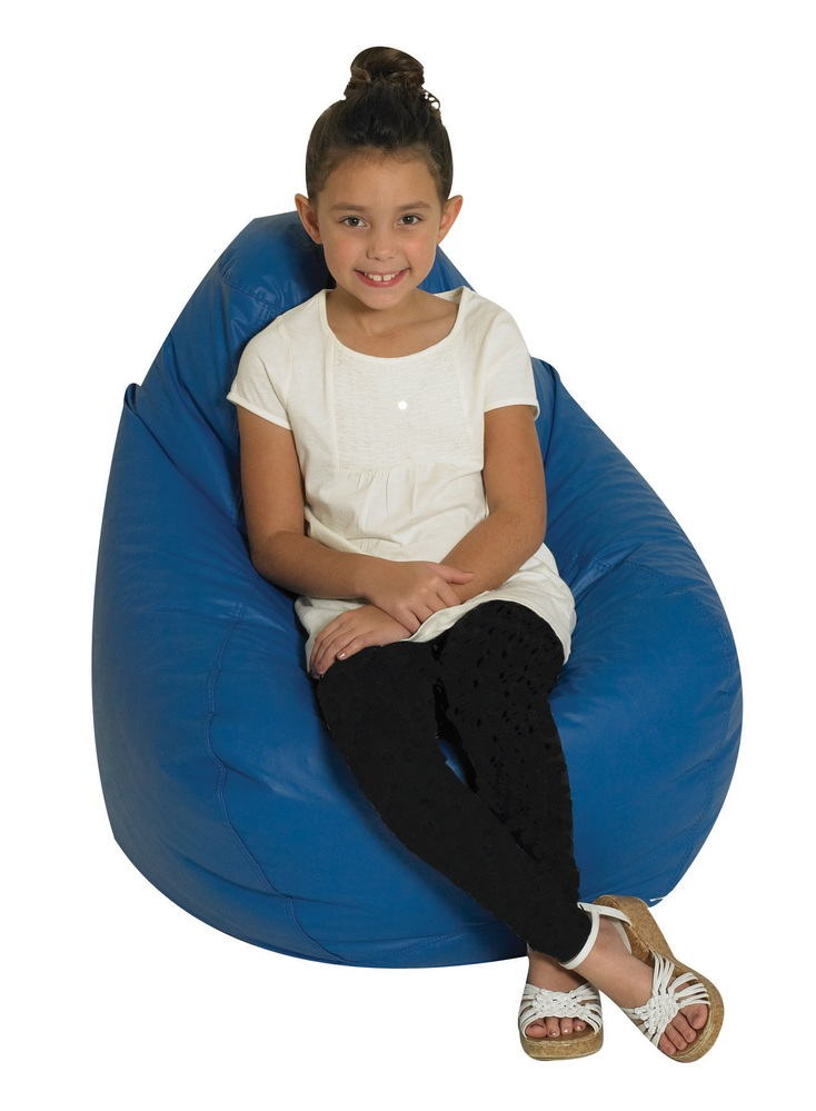 The Children's Factory Tear Drop Bean Bag: Blue