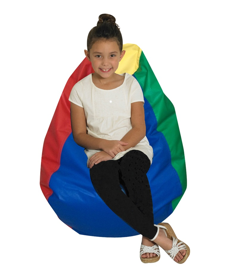 The Children's Factory Tear Drop Bean Bag: Rainbow