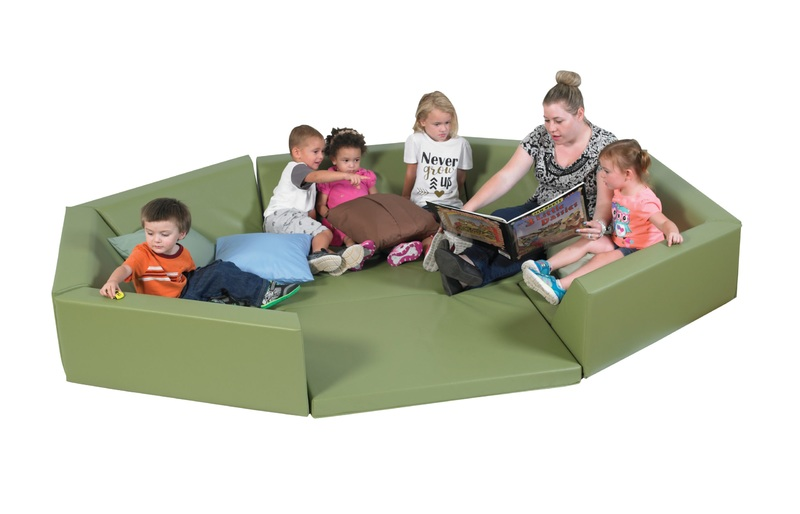 The Children's Factory Octagonal Welcoming Hollow: Dark Green