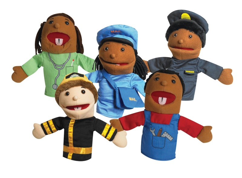 The Children's Factory Ethnic Children Career Puppet: Set of 5