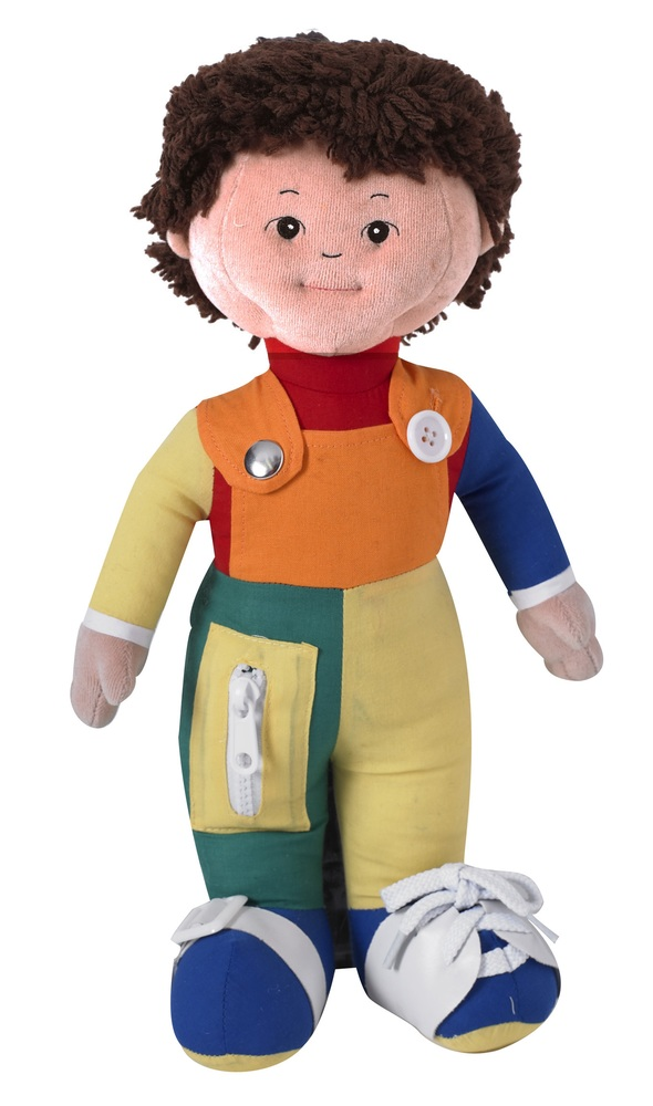 "The Children's Factory Learn to Dress Hispanic Boy in Poly Bag: 15"" Tall"