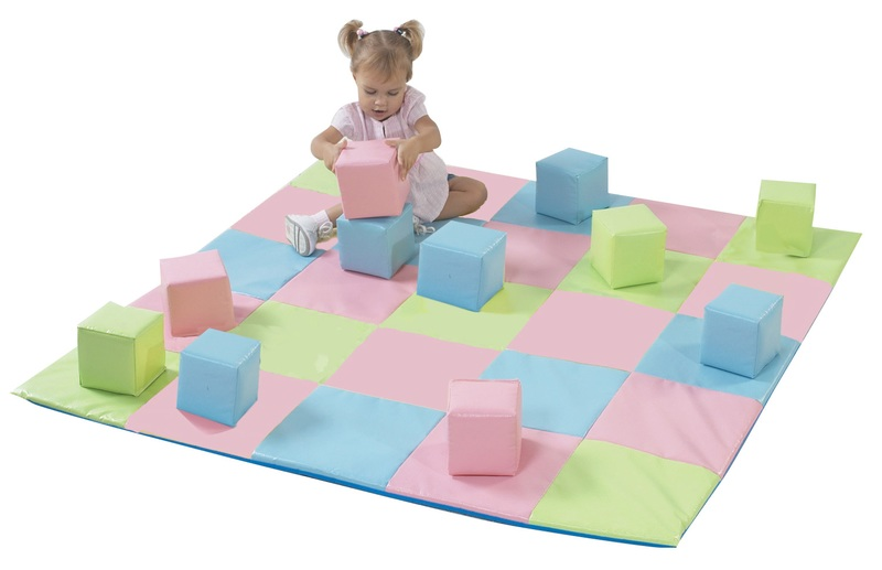 The Children's Factory Joey's Matching Mat & Block Set: Pastel