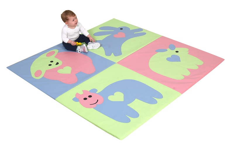 The Children's Factory Baby Love Activity Mat: Pastel